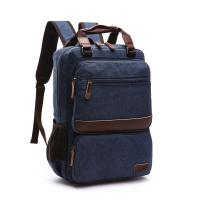 Five Colors Washable College Student Backpack Canvas Large Capacity For Men