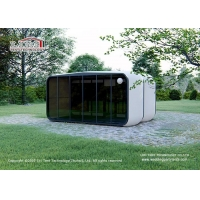 Buy cheap High Quality Luxury Glamping Tents Glamping Modular Box Lxurious Glass Wall from wholesalers