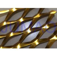 China 3D Anodized Expanded Aluminium Mesh, Gold Flattened Expanded Metal Screen Mesh on sale
