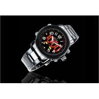 Buy cheap Military Boys Dual Time Wrist Watches Silver With 46mm Big Case product