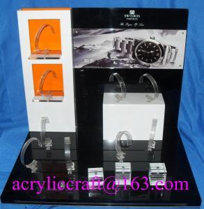 Buy cheap Présentoir acrylique de luxe fait sur commande populaire pour la montre avec l'agrafe de C product