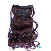 Buy cheap Black Curly Synthetic Clip In Hair Extensions Human Hair Wefts product