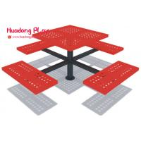Buy cheap Picnic Outdoor Decorative Metal Garden Bench Seat For Preschool Community   Static Free product