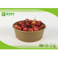 Buy cheap Disposable Kraft Brown Paper Salad Bowls Food Container with Clear Lids product