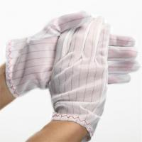 Buy cheap 100% polyester fabric ESD Stripped Glove product