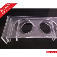 China Durable Clear Bending Acrylic Pet Dining Table Tray For Cat Dog on sale