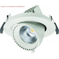 Adjustable 40W Angled LED Gimbal Downlight Led Recessed Lighting 3500lm