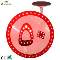 China Ultra thin Custom LED Circular Solar Speed Limit Traffic Sign on sale