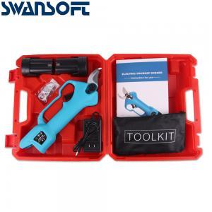 Buy cheap Swansoft 28mm 16.8V 16.8V 무선 정리기 리튬 이온 정리 전단 효율적인 가위 분재 전기 나뭇 가지 정원 도구 전기 SC-8603 product