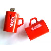 China Custom Usb Sticks 64MB, 256MB, 4GB Red Coffee Cup Flash Drive Transformer for Windows ME on sale