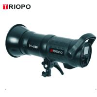 Buy cheap TRIOPO T1-300/400/500 high speed sync 1/8000 seconds studio flash light with black color product