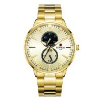 Buy cheap PVD Coating Color Mens Stainless Steel Chronograph Watches , Metal Mens Watches product