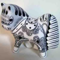 China Horse Figurine Clay Sculpture Fengxiang Shaanxi China on sale