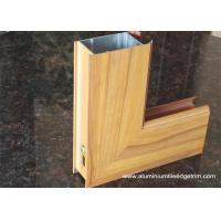 Buy cheap Wood Grain Effect Aluminium Side-hinged Door Extrusion Profile from wholesalers