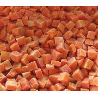 China IQF Frozen Carrot Dice, peeled, cultivated in open air on sale