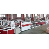 China Wood Plastic Composite Production Line / WPC Board Sheet Profile Extruder Machinery on sale