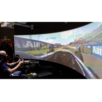 Buy cheap 360 Degree Flight Curved Simulation Screens Floor Standing product