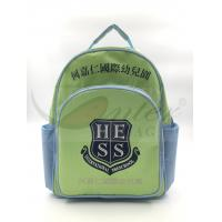Light Green 420D Polyester Kids School Backpacks For Traveling / Outdoor