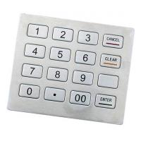 Buy cheap PCI Pin Pad RS-232 IP65 Stainless Kiosk keypad Support DES, Triple DES Algorithm product