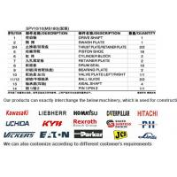 SPV10/10 MS180 Hydraulic Parts and Kits for Cat Excavators