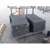 Buy cheap Black With Snow White Natural Stone Slabs Nero Biasca Granite Pavement Stone product