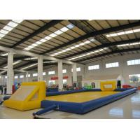 Buy cheap Amusment Park Inflatable Soccer Playground bright colour giant Inflatable Football Pitch for adult product