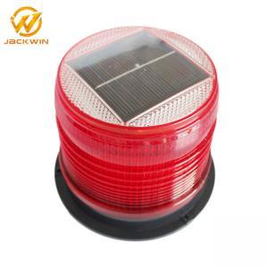 China Red Amber Flashing Marine Solar Warning Light Magnet Base Waterproof IP68 on sale