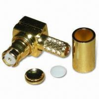 Buy cheap RF Connector SMP Jack R/A Crimp for RG174, with Non-stick Insulator and Phosphor Bronze/Gold Pin product