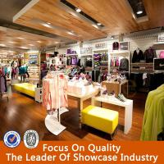 Buy cheap hot sale wooden ladies clothes shop design/clothes shop counter table design product