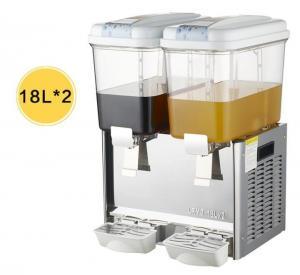 Buy cheap Double Tanks 2 x 18L Commercial Refrigerator Freezer / Juice Beverage Dispenser Machine product