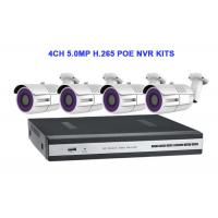 Buy cheap 4CH 5.0MP H.265 POE NVR KITS With Waterproof Bullet IP IR Camera from wholesalers