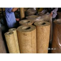 China Light Weight Rockwool Pipe Insulation For Hot / Cold Pipe Lines on sale