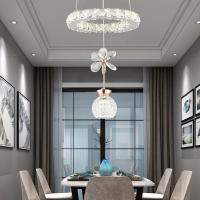 Buy cheap Modern Crystal Chandelier Lighting For Kitchen Dining room Lustre led Indoor Single Indoor Home Handing Lamp from wholesalers