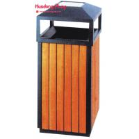 Buy cheap Garden Park  Outdoor Wooden Trash Recycle Bin For Home  Kitchen  38 * 85cm product