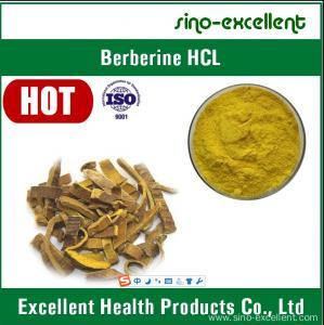 Buy cheap HCL de Berberine, chlorhydrate 97%, 98% de Berberine product