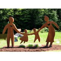 Buy cheap Playing Parents and Children Corten Steel Garden Love Sculpture from wholesalers