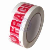 "Quality 2""X110yd Fragile White Carton Sealing Tape for sale"
