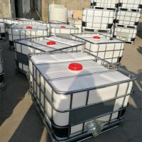 Buy cheap 500L IBC type rotomolded customized   plastic tank with metal frame for chemical storage and transport product