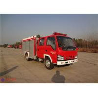 Buy cheap Red Painting Rear Mount Pump Fire Truck , MSB Manual Gearbox Industrial Fire Truck product