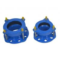 Buy cheap Epoxy Powder Coating Of 150-200 Microns Flexible Hdpe Pipe Coupling Ductile Iron Flange Adaptor product