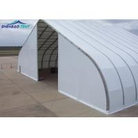 Buy cheap Metal Frame Curved Tent For Width Fire Retardant TFS Tent White PVC Fabric from wholesalers