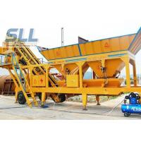 Buy cheap Twin Shaft Mini Mobile Concrete Batching Plant For Construction Machinery product
