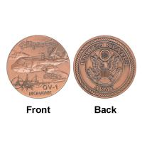 Buy cheap Army OV - 1 MOHAWK Plane Token Commemorative Coins , Military Souvenir Collectible Coins product
