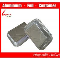 Quality Take-out food Eco-friendly Aluminum Foil Fast Food Box With Cover for sale