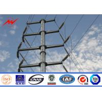 Buy cheap AWS D1.1 Hot Dip Galvanized Power Transmission Poles For Electrical Line Project product