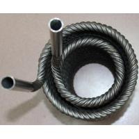Buy cheap Twisted Titanium heat exchanger tubes titanium coil pipe  with od25.4*wt1.0*Lmm product