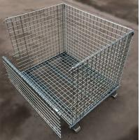 Custom Size Stacking Pallet Racks , Industrial Wire Containers For Bulk Materials Handling