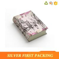 Buy cheap Silver First custom Pretty book shape gift boxes design with magnetic closure product
