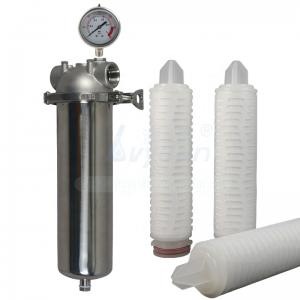 Buy cheap PP PTFE Pleated Filter Cartridge product