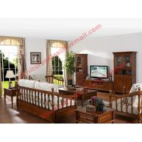 Buy cheap Solid Wooden Carving Frame with Fabric Upholstery Sofa Set in Living Room Set product